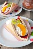 Fresh cream-coloured Eclair cookie Stock Image