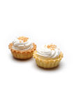 Fresh cream cupcake isolated Royalty Free Stock Images