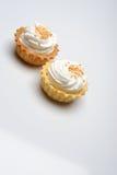 Fresh cream cupcake isolated Stock Photo
