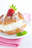 Fresh cream puff Stock Image