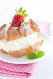 Fresh Cream Puff Stock Image