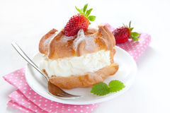 Fresh cream puff Stock Images