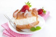 Fresh Cream Puff Stock Images
