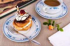 Fresh cream puff. Stock Images