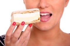 Fresh cream puff Stock Photo