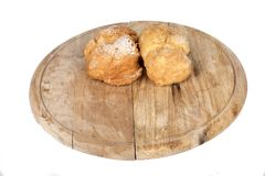 Fresh cream puffs on display Royalty Free Stock Photo