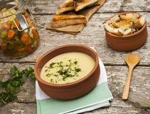 Fresh cream soup Royalty Free Stock Photography