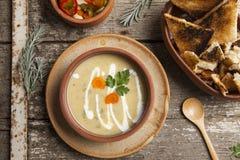 Fresh cream soup Stock Image