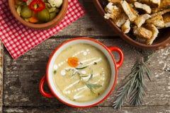 Fresh cream soup Royalty Free Stock Photo