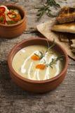 Fresh cream soup Stock Photo