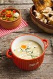 Fresh cream soup Stock Photos