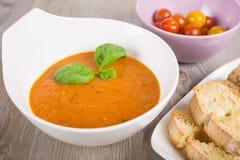 Fresh cream sweet pepper soup Royalty Free Stock Image