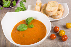 Fresh cream sweet pepper soup Royalty Free Stock Images