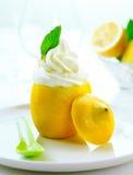 Fresh creamy icecream and lemon Stock Photos
