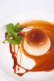 Fresh creme caramel Royalty Free Stock Image