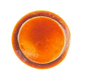 Fresh creme caramel flan with coffee flavor Stock Photos