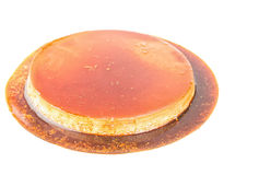 Fresh creme caramel flan with coffee flavor Stock Images