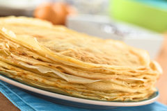 Fresh Crepes Stock Images
