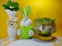 Fresh cress and rabbit Stock Photo