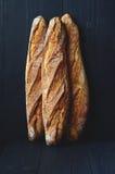 Fresh crispy baguette Royalty Free Stock Photos