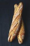 Fresh crispy baguette Stock Photos