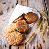 Fresh crispy cereal cookies and ears Royalty Free Stock Image