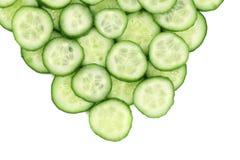 Fresh crispy cucumber closeup. Royalty Free Stock Images