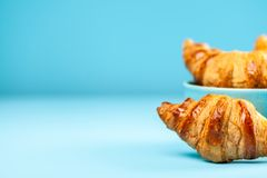 Fresh butter croissants Royalty Free Stock Photos