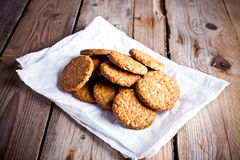Fresh crispy oat cookies Royalty Free Stock Images