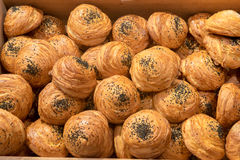 Fresh croissant background Stock Photography