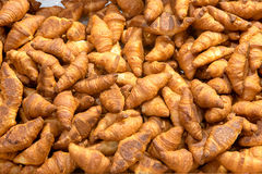 Fresh croissant background Royalty Free Stock Photography