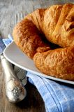 Fresh croissant for breakfast french pastry elaboration Royalty Free Stock Photos