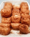 Fresh croissant. Freshly baked croissant from a bakery royalty free stock images