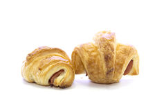 Fresh Croissant ham crispy gold texture bread Stock Photography