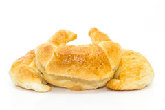 Fresh croissant isolated on white Stock Images