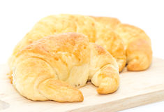 Fresh croissant isolated on white Stock Photography