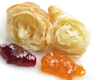 Fresh Croissant And Jam Royalty Free Stock Photo