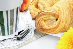 Fresh croissant & more Royalty Free Stock Image