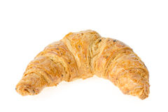 fresh croissant with nuts and raisins Stock Photography