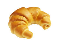 Fresh croissant on a white background Royalty Free Stock Photos