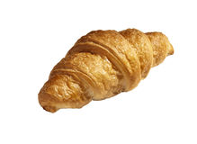 Fresh croissant on a white background Royalty Free Stock Image