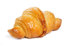 Fresh croissant on white background Royalty Free Stock Images