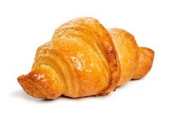 Fresh croissant on white background Royalty Free Stock Image