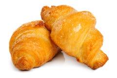 Fresh croissant on white background Stock Images