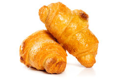 Fresh croissant on white background Stock Image