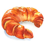 Fresh croissant on white background Royalty Free Stock Image