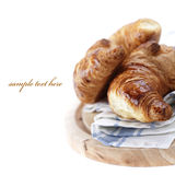 Fresh croissants Stock Images