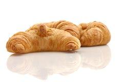 Fresh croissants. On white background Stock Image