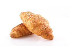 Fresh croissants. Royalty Free Stock Photos