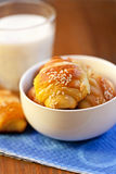 fresh croissants for breakfast Stock Images